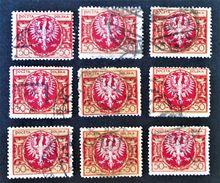 ARMOIRIES 1922 - OBLITERES - YT 228 - VARIETES DE TEINTES ET D'0BLITERATIONS - 1919-1939 Republik