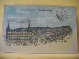 B8 9717 - 75 VUES DE PARIS - LA SAMARITAINE - 1928 - VERSO : CARTE COMMERCIALE - Autres