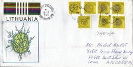 Lettre De Kaunas, Adressée En ANDORRA, Avec Timbre à Date Arrivée - Lithuania