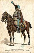 Rare Cards  2 REGIMENT CHAMBORAN 1807    HUSSARD FRANCAIS -   - UNIFORME - ILLUSTRATEUR; BITRY-BOËTY - Reggimenti