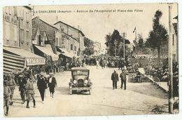 La Cavalerie (12 - Aveyron) Avenue De L'Hospitalet Et Place Des Fêtes - La Cavalerie