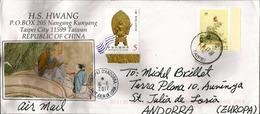Belle Lettre De Taipei City, Adressée En ANDORRA, Avec Timbre à Date Arrivée - 1945-... République De Chine