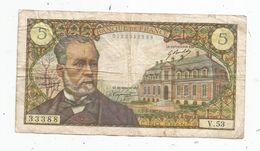 Billet , 5 Francs , Pasteur , 6-2-1969  , 5-5-1967 , 2 Scans - 1962-1997 ''Francs''