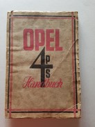 4) Opel 4 PS 1927 Original Betriebsanleitung - Owner's Manual - Shop-Manuals