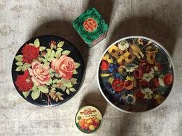 4  SCATOLE Latta  VINTAGE  :  WILD FLOWERS , MAYA TEA , TIBET TEA ,.... - Scatole/Bauli