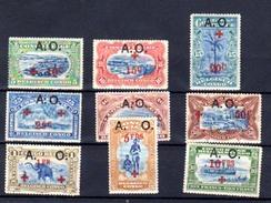 1918  Croix-Rouge, 36 / 44 *, Cote 130 - 1916-22: Neufs