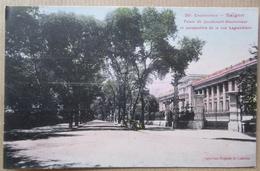 Indochine Saigon Palais Du Lieutenant Gouverneur Et Perspective De La Rue Lagrandiere Cpa - Vietnam