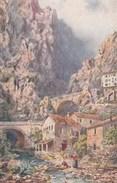 Illustrateur  - MENTON Alpes Maritimes Le Pont St Louis Frontière Italienne - Raphael Tuck 122 - Non écrite - Tuck, Raphael