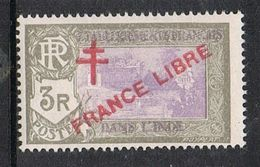 INDE N°169 N** FRANCE LIBRE - Used Stamps