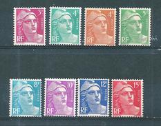 France Marianne De Gandon De 1948  N°806 A 813 Série Complète  Neuf ** Parfait Sans Charnière - France
