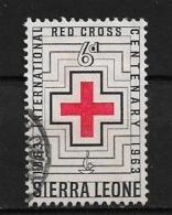SIERRA LEONE   1963 The 100th Anniversary Of Red Cross  USED - Sierra Leone (...-1960)
