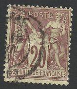 France, 20 C. 1876, Sc # 70, Mi # 62I, Used - 1876-1878 Sage (Type I)
