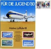 DEUTSCHLAND  Für Die Jugend '80  Motive: Luftfahrt III   Nice Stamp - 1946-....: Era Moderna
