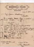 """Roncone (Trento)  - 22 Ottobre 1894 - Lettera Della Ditta  """" Rizzonelli Felice """" - (FDC5013) - Italia"""