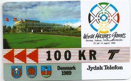 Denmark - Jydsk - World Masters Games - GPT- 50Kr - 2JYDB - 1989, 3.000ex, Used - Denmark