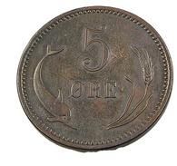 5 Ore - Danemark - 1874 - Bronze - TB+ - - Dänemark