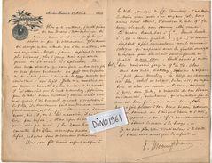 VP10.265 - 1900 - LAS - Lettre De Mr André  MEAUX SAINT MARC Artiste Peintre ( 1885 - 1941 ) à AIX LES BAINS ( Savoie ) - Autographs