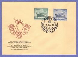 BER SC #9N113-4 1955 Shipping / West German Ownership FDC 03-12-1955 - [5] Berlin