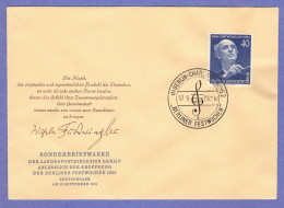 BER SC #9N115 1955 Wilhelm Furtwangler FDC 09-17-1955 - FDC: Covers