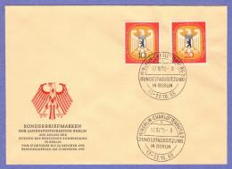 BER SC #9N116-7 1955 German Bundestag FDC 10-17-1955 - FDC: Covers
