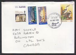 Australia Birds Postal Stationery Envelope Bridge Stamps To Canada #21595 - Unclassified