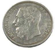 5 Francs - Belgique - 1873 - Argent - TB+ - - 1865-1909: Leopold II
