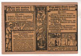 Nr.  8840,  Deutsche Propagandakarte, Was Wir Wollen, Was Wir Haben,  Was Unsere Feinde Wollen Und Was Sie Haben - War 1914-18