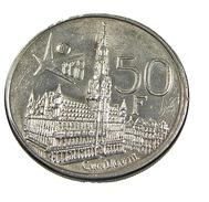50 Francs - Belgique - 1958 - Argent - TB+ - - 1951-1993: Baudouin I