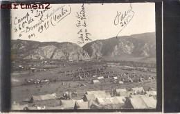 CARTE PHOTO : MACEDOINE SERBIE DEMIR-KAPOU VARDAR CAMP MILITAIRE DU TRAIN REGIMENTAIRE DU 260e REGIMENT TURKEY GRECE - Serbie