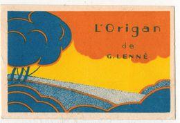 """CARTE PARFUMEE PUBLICITAIRE  : """" Parfum G LENNE L´Origan """" - Profumeria Antica (fino Al 1960)"""