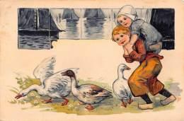 CPA  EN RELIEF GAUFREE COSTUMME HOLLANDAIS ENFANT ** EMBOSSED CARD CHILDREN IN DUTCH COSTUME PFB 3939 - Children's Drawings