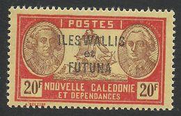 Wallis And Futuna, 20 F. 1944, Sc # 126F, MNH - Wallis And Futuna