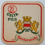 Sous-bock CELTA PILS 22 Dendermonde (lions Armoiries Blason City Emblem Stadswapen) Bierdeckel Bierviltje Coaster (CX) - Sous-bocks