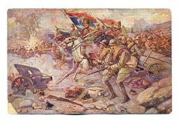 SERBIA--WW1 PAINTING FROM ESKICEVIC----KING ALEKSANDAR CHARGES------EN00079 - Serbia