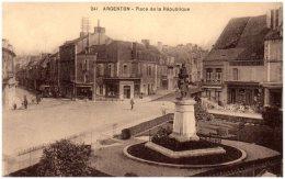 36 ARGENTON - Place De La République   (Recto/Verso) - Frankreich