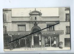 CPA  Souple  - 36 - Etablissements JELHEN  -  Rue Gravel , Levallois - (Seine )  -   Café , Restaurant - Levallois Perret