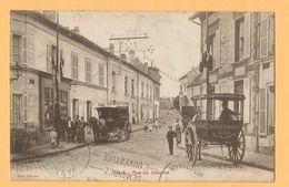 0127 CPA  DEUIL (Seine ..)  Rue Du Crochet - Attelages ... BOUSCATEL  Soisy Sous Montmorency - Epicerie ....+++++ - Deuil La Barre