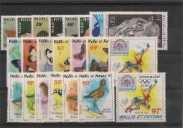 WALLIS ET FUTUNA  Année 1987 Complète  N°353/374** Côte 36,85 € - Wallis And Futuna