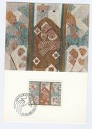 1979 LIECHTENSTEIN  FDC Maximum Card CHRISTMAS TAPESTRY Stamps Cover Textile - Christmas