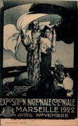 MARSEILLE - Affiche De L'Exposition Coloniale 1922 - Expositions Coloniales 1906 - 1922