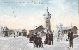 KEILBERG Im Winter (Klínovec, Böhmen), Gel.1909, Sonderstempel - Böhmen Und Mähren