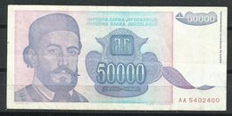 Yugoslavia_50.000 Dinara_EBC/VF_Circulado - Yugoslavia