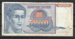Yugoslavia_500.000 Dinara_EBC/VF_Circulado - Yugoslavia