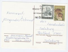 1991 Weiz AUSTRIA 50g Stamps On UPRATED 4s FUNGI Postal STATIONERY CARD Cover Mushroom - Stamped Stationery