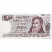 TWN - ARGENTINA 295c - 10 Pesos 1973-76 Serie D - Signatures: Mondelli & Cairoli AU/UNC - Argentina