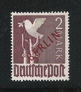 GERMANIA BERLINO-1949-valore Della Zona A.I.S. Da 2 M. Nuovo S.t.l. Soprastampato BERLIN In Rosso NOT CERIFICATE. - Neufs