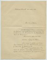 """Guerre De 1870-71. Lettre Du Juge De Paix De Châteaurenard Au Maire. Arrestation Des """"émissaires"""" De La Commune De Paris - Documents Historiques"""