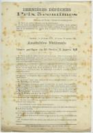 Guerre De 1870-71. Dernières Dépêches. Assemblée Nationale à Bordeaux. 28 Février 1871. Abandon Alsace Et Lorraine. - Documentos Históricos