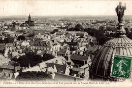 Tours (37) - Le Dôme De La Basilique Saint-Martin Et Vue Générale Vers Le Nouvel Hôtel De Ville - Tours