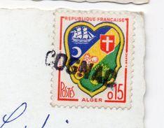 """1963--Belle Griffe Linéaire Ou Horizontale """" COGNAC """"  Sur Carte Postale De Paris  Arc De Triomphe Du Carrousel----- - Marcophilie (Lettres)"""